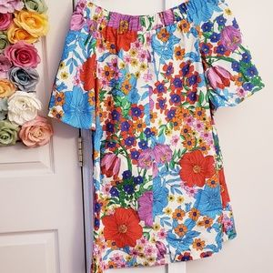 H&M size 6 Dress Floral Hawaiian Short USED ONCE
